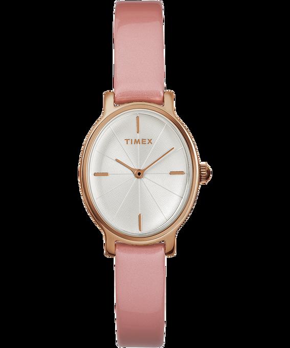 Zegarek Milano Oval z kopertą 24 mm i paskiem z lakierowanej skóry W kolorze różowego złota/Różowy/W kolorze srebra large