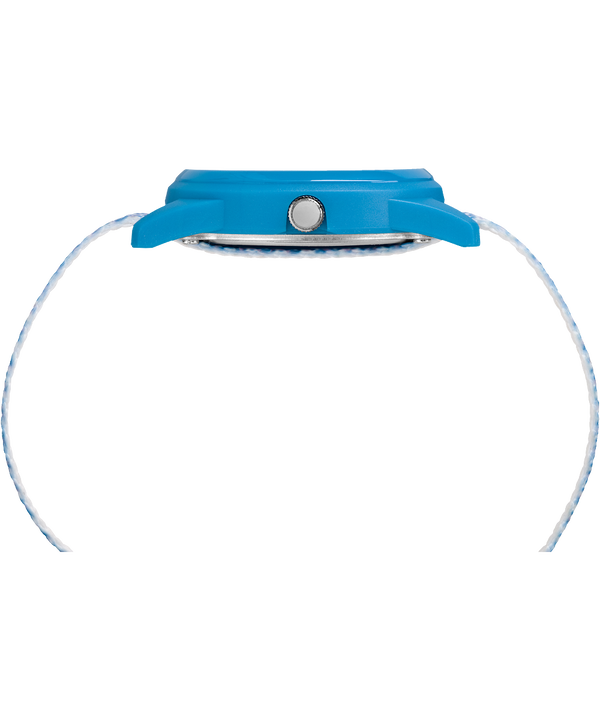 Dziecięcy zegarek analogowy z kopertą 32 mm i nylonowym paskiem Blue/White large
