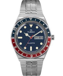 Powraca model Q Timex z kopertą 38mm i stalową bransoletką Stal nierdzewna/Niebieski large