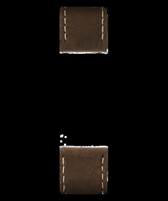 Dwuczęściowy brązowy skórzany pasek  large
