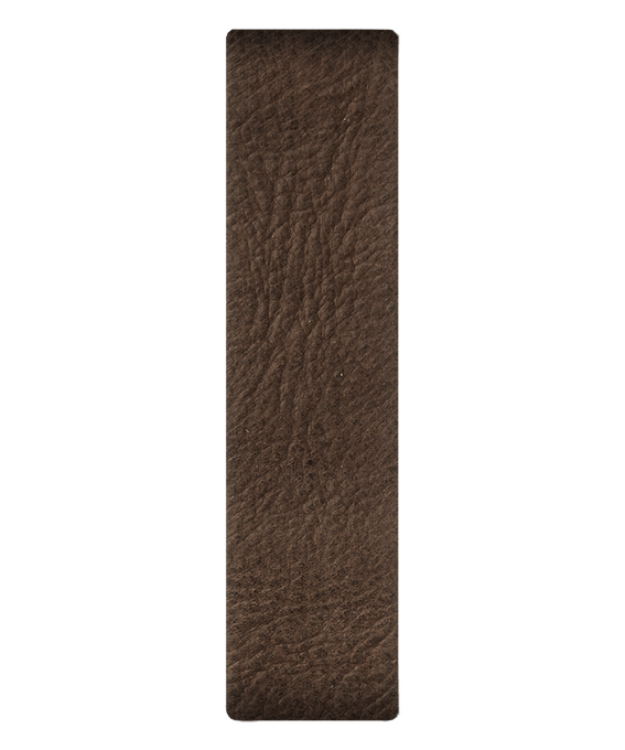 Brązowy skórzany pasek przewlekany  large