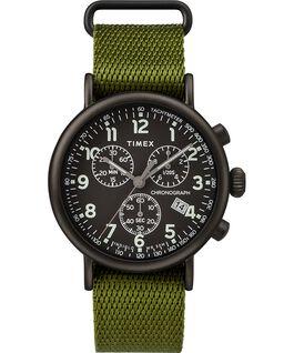 Zegarek Standard Chronograph z kopertą 40 mm i paskiem materiałowym Black/Green large
