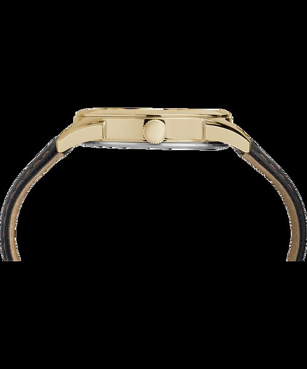 Zegarek męski Torrington z funkcją daty, kopertą 40 mm i skórzanym paskiem Złoty/Czarny large