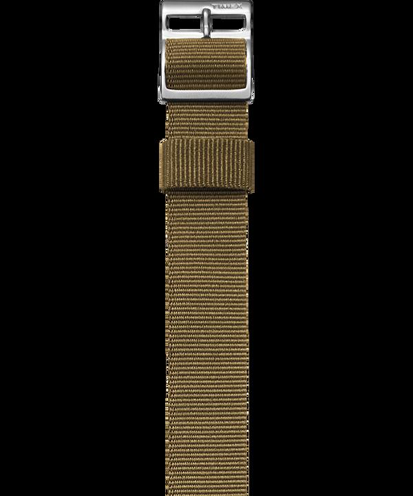 Przewlekany pasek z grogramu zainspirowany stylem wojskowym Jasnobrązowy large