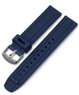 20mm Quick Release Silicone Strap Blue large