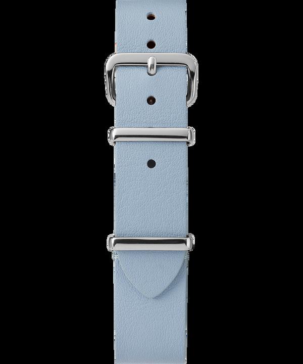 16mm Leather Slip-Thru Single Layer Strap Niebieski large