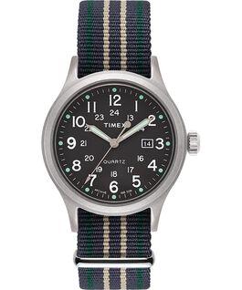 Zegarek Allied z kopertą 40 mm i indeksami w kształcie kropek Srebrny/Zielony large