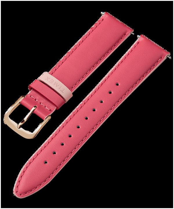Pasek skórzany 20 mm Różowy large