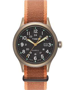 Zegarek Allied z kopertą 40 mm i indeksami w kształcie kropek W kolorze brązu/Czarny large