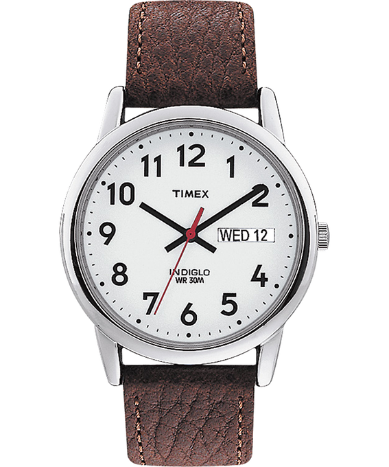 Easy Reader 35mm Leather Watch with Day Date