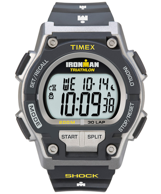 IRONMAN Original 30 Shock Full-Size 42mm Resin Strap Watch