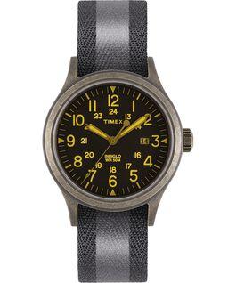 Zegarek Allied z kopertą 40 mm i dwustronnym paskiem materiałowym z detalem odblaskowym Złoty/Czarny large