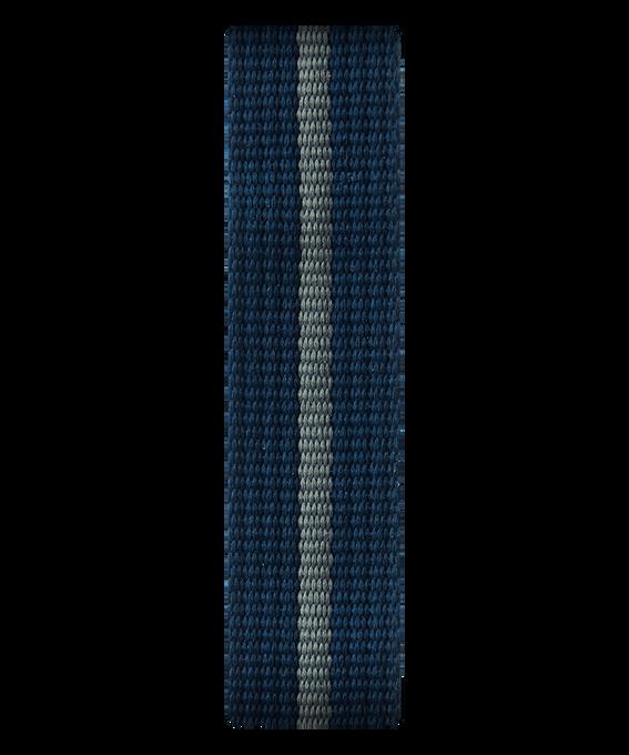 Szaro-niebieski nylonowy przewlekany pasek  large