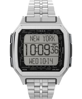 Command Urban Metal 47mm Stainless Steel Bracelet Watch Silver-Tone large