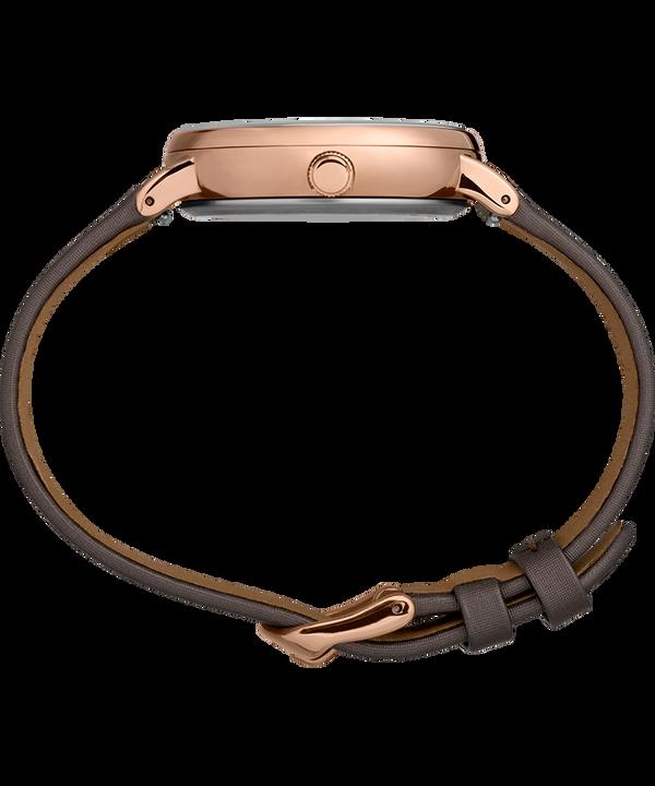 Zegarek Crystal Opulence 37 mm z paskiem materiałowym Tytan/Brązowy-KOZIOROŻEC,WODNIK,RYBY large