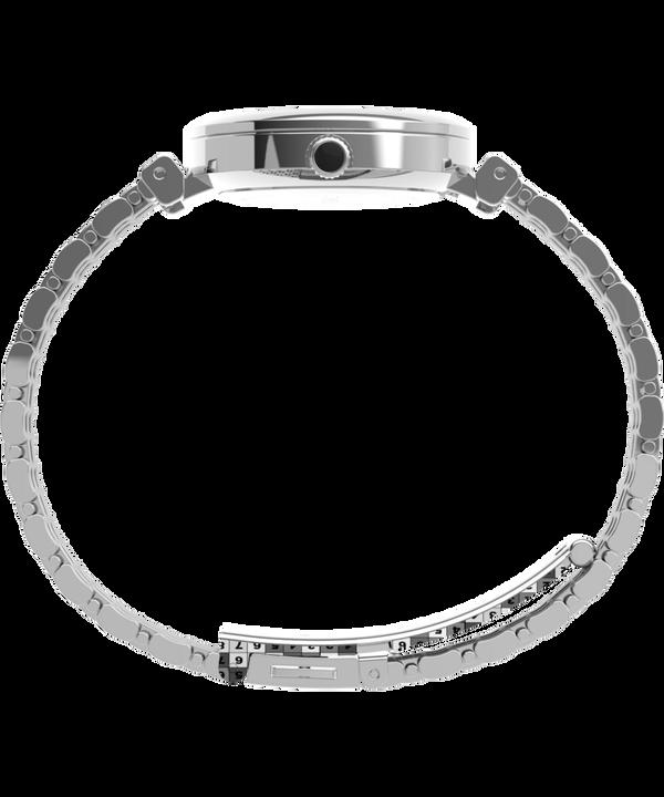 Zegarek Parisienne 28 mm ze stalową bransoletą Srebrny/Perłowy large