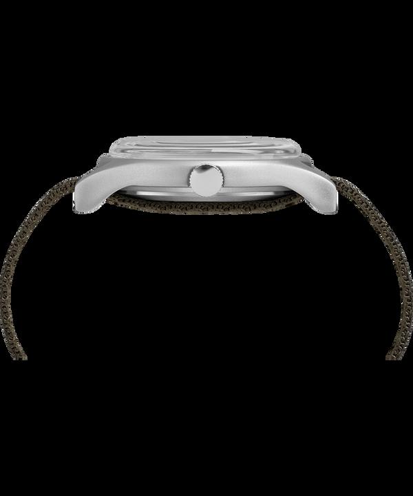Zegarek MK1 z kopertą aluminiową 40 mm i odblaskowym materiałowym paskiem Silver-Tone/Green large