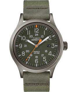 Zegarek Scout z kopertą 40 mm oraz paskiem materiałowym Szary/Zielony large