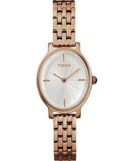 Zegarek Milano Oval z kopertą 24 mm i bransoletą ze stali nierdzewnej Różowe złoto/Srebrny large