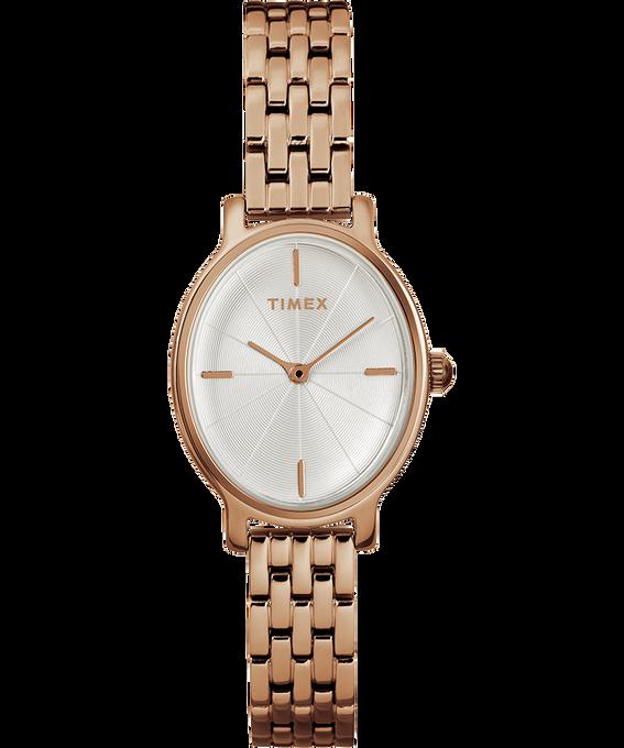 Zegarek Milano Oval z kopertą 24 mm i bransoletą ze stali nierdzewnej W kolorze różowego złota/W kolorze srebra large