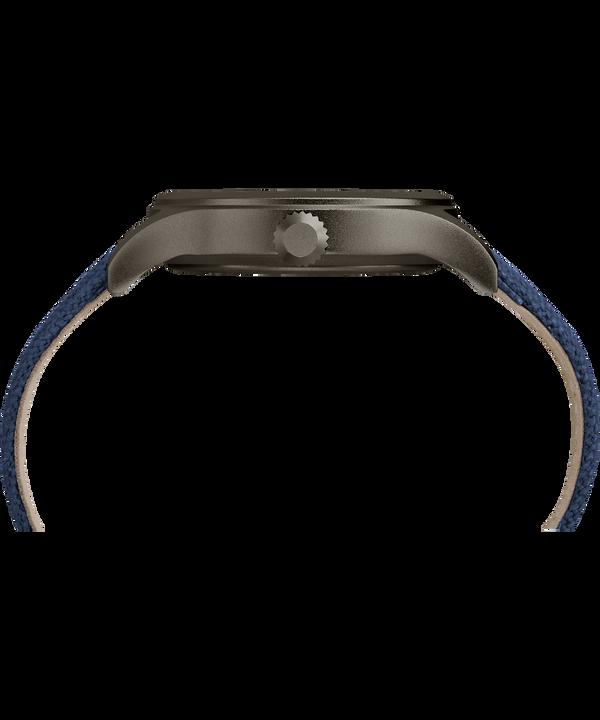 Zegarek Allied z kopertą 40 mm i paskiem materiałowym Gray/Blue large
