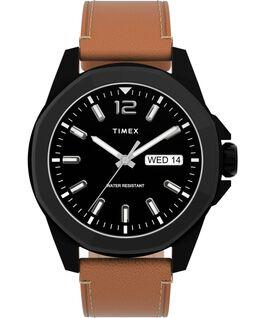 Zegarek Essex Avenue 44 mm ze stalową bransoletą Czarny/Jasnobrązowy large