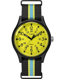 Zegarek MK1 California 40 mm z paskiem materiałowym Czarny/Żółty large