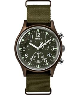 MK1 Aluminum Chronograph 40mm Nylon Strap Watch Green large