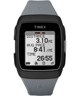 IRONMAN GPS 38mm Silicone Strap Black/Gray large
