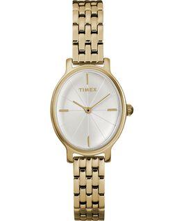 Zegarek Milano Oval z kopertą 24 mm i bransoletą ze stali nierdzewnej Złoty/Srebrny large