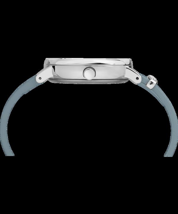 Zegarek Fairfield Crystal z kryształkami Swarovski®, kopertą 37 mm i skórzanym paskiem Silver-Tone/Blue/White large