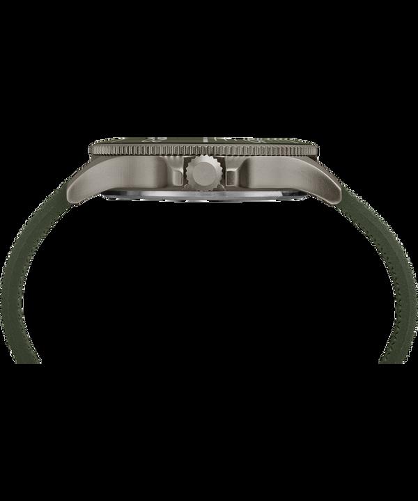 Zegarek Allied Coastline z kopertą 43 mm i silikonowym paskiem Gray/Green large