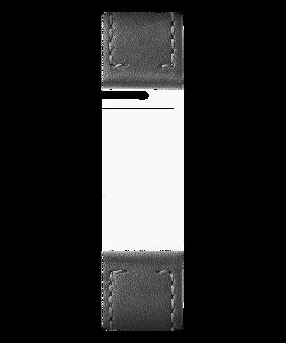 Dwuczęściowy szary skórzany pasek  large