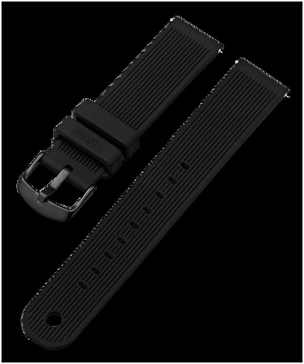 Silikonowy pasek 20 mm Black large