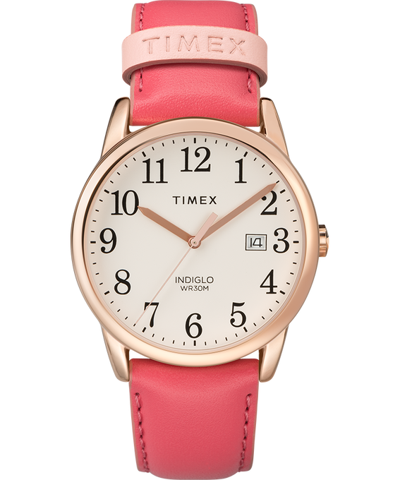 Easy Reader Color Pop 38mm Leather Watch Womens