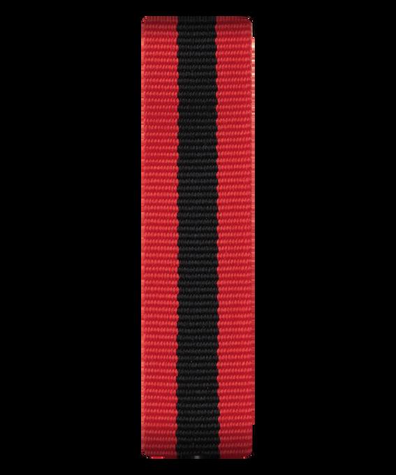 Czerwono-czarny nylonowy przewlekany pasek  large