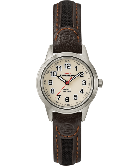 Expedition Field Mini 26mm Leather Strap Silver-Tone/Brown/Natural large
