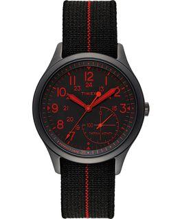 Zegarek IQ+ Move z kopertą 41 mm, paskiem z elastycznego materiału i kolorowym szkiełkiem Czarny large