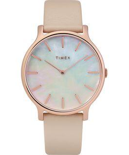 Zegarek Transcend z kopertą 38 mm i skórzanym paskiem Różowe złoto/Różowy/Masa perłowa large