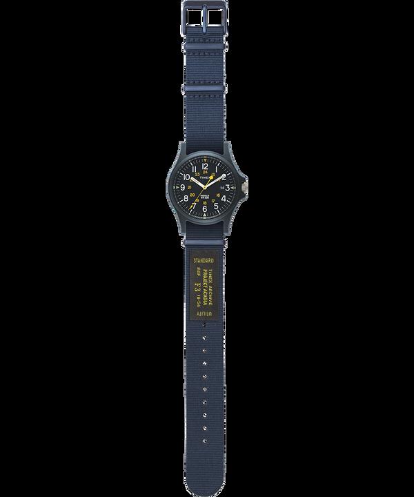 Zegarek Acadia z kopertą 40 mm i wojskowym paskiem z grogramu Niebieski large
