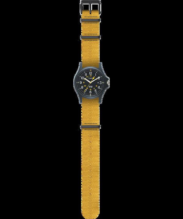 Zegarek Acadia z kopertą 40 mm i paskiem materiałowym Niebieski/Żółty large
