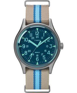 Zegarek MK1 California 40 mm z paskiem materiałowym Srebrny/Szary/Niebieski large