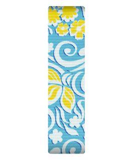 Nylonowy przewlekany pasek z niebiesko-żółtym wzorem  large