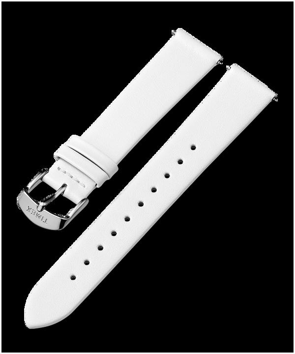Skórzany pasek 18 mm ze sprzączką w kolorze srebrnym  large
