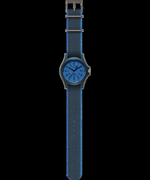 Zegarek Acadia z kopertą 40 mm i paskiem z elastycznego materiału Niebieski/Biały large