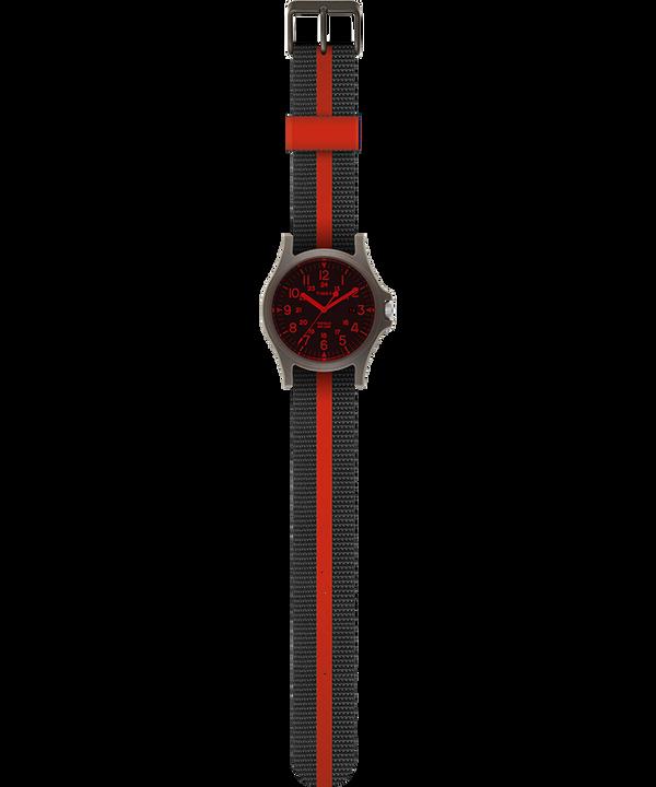 Zegarek Acadia z kopertą 40 mm i paskiem materiałowym Zielony/Czarny large