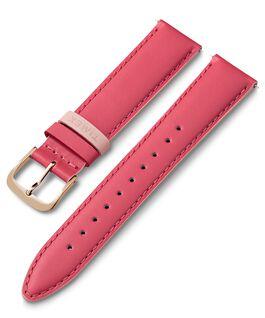 Skórzany pasek z kolorową szlufką 20 mm Różowy large