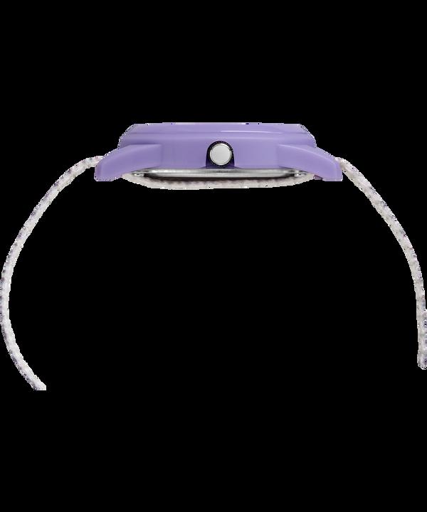 Dziecięcy zegarek analogowy z kopertą 32 mm i nylonowym paskiem Purple/White large