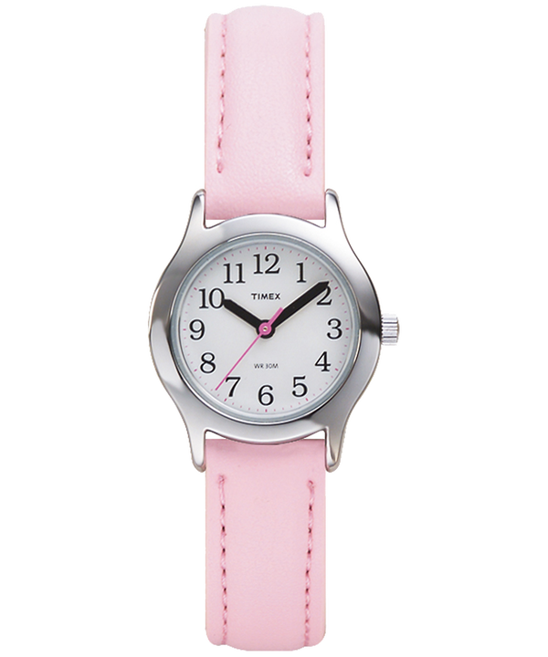 My First Timex® Easy Reader® Silver-Tone/Pink/White large