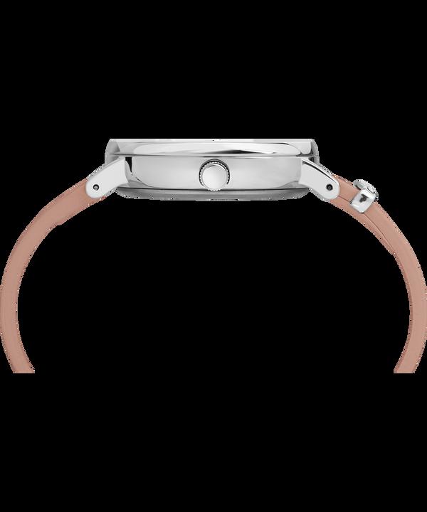 Zegarek Fairfield Crystal z kryształkami Swarovski®, kopertą 37 mm i skórzanym paskiem Silver-Tone/Pink/White large